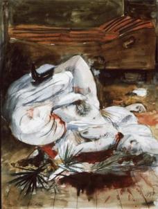 Otto Dix; Murder; 1922; watercolor; 65 x 50 cm