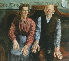 Otto Dix; My Parents; 1924; oil on canvas
