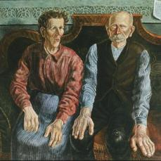 Otto Dix; My Parents; 1924; oil on canvas