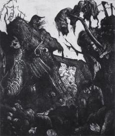 Otto Dix; Ruined Trench; 1924; etching, aquatint, drypoint; 30 x 24.4 cm