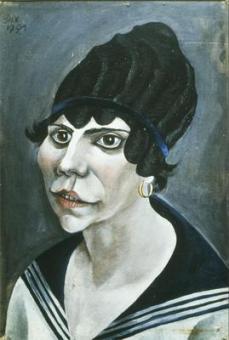 Otto Dix; Sailor's Fiancee; 1921; 48 x 23 cm