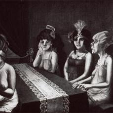 Otto Dix; Salon I; 1922; oil on canvas;