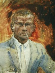 Otto Dix; Self-Portrait; 1923-4; watercolor; 59 x 45 cm
