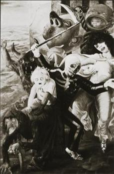 Otto Dix; Seven Deadly Sins; 1933; mixed media, wood; 179 x 120 cm