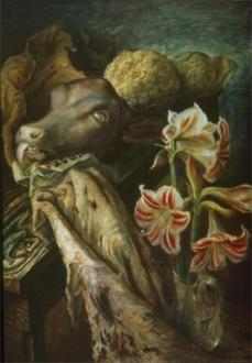 Otto Dix; Still-Life with Calf's Head; 1926; 100 x 72 cm