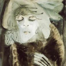 Otto Dix; Streetwalker; 1920; watercolor; 48 x 40 cm