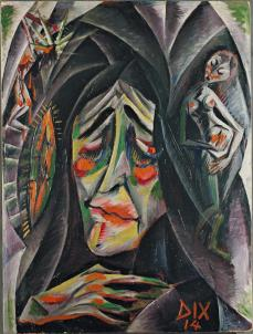 Otto Dix; The Nun; 1914; oil on cardboard; 70.2 x 52.4 cm; The Museum of Modern Art