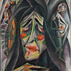Otto Dix; The Nun; 1914; oil on cardboard; 70.2 x 52.4 cm; The Museum of Modern Art
