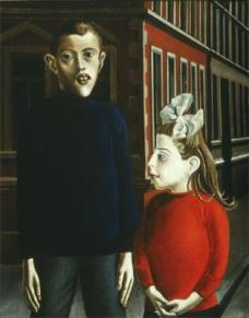 Otto Dix; Two Children; 1921; 95 x 76 cm