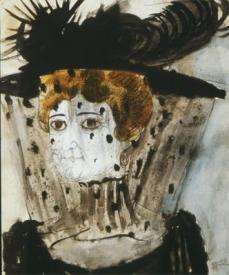 Otto Dix; Widow; 1922; watercolor; 58 x 48 cm