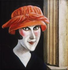 Otto Dix; Woman with Red Hat; 1921; 44 x 41 cm
