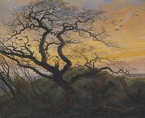 Caspar David Friedrich; Trees with Ravens and Prehistoric Tumulus on the Baltic Coast; 1822; oil on canvas; Musée du Louvre