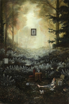 Ged Quinn; On Reaching the Heart of the Trackless Forest, Lancelot Lay Down and Soon Fell in to a Fathomless Reverie on What May Be Found Beyond The Limits of Realism and Mythical Thinking