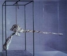 Alberto Giacometti; Nose; 1947; metal, cord, plaster; Kunsthalle Basel