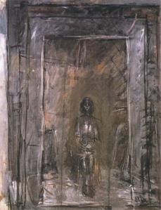 Alberto Giacometti; Annette Seated; 1954; oil on canvas
