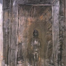 Alberto Giacometti; Annette Seated; 1954; oil on canvas