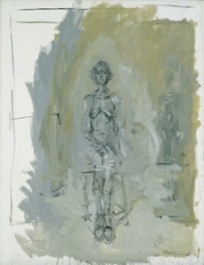 Alberto Giacometti; Annette Seated; 1958; oil and pencil on canvas; 115 x 88.9 cm; The Detroit Institute of Arts