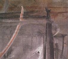 Alberto Giacometti; Annette Seated (detail of brushstroke); 1954; oil on canvas