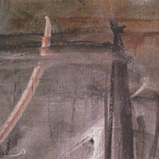 Alberto Giacometti; Annette Seated (detail of brushstroke); 1954; oil on canvas