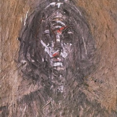 Alberto Giacometti; Annette Seated (detail of face); 1954; oil on canvas