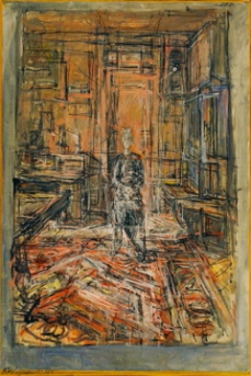 Alberto Giacometti; The Artist's Mother; 1950; oil on canvas; 89.9 x 61 cm; The Museum of Modern Art