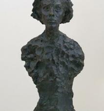Alberto Giacometti; Bust of Annette; 1962; bronze; 59.06 x 25.4 x 19.05 cm; San Francisco Museum of Modern Art