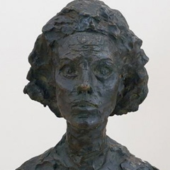 Alberto Giacometti; Bust of Annette (detail); 1962; bronze; 59.06 x 25.4 x 19.05 cm; San Francisco Museum of Modern Art