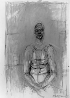 Alberto Giacometti; Caroline; 1964; oil on canvas; 92.1 x 65.1 cm; Saint Louis Art Museum