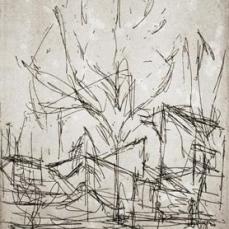 Alberto Giacometti; Cityscape; 1965