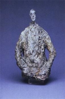 Alberto Giacometti; Diego in a Cloak; painted bronze