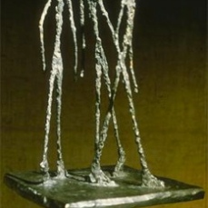 Alberto Giacometti; Group of 3 Men II; 1949; bronze; Kunsthalle Basel