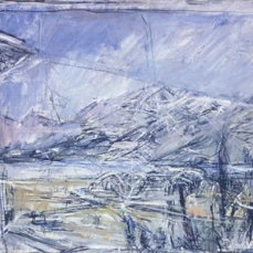 Alberto Giacometti; Landscape; 1953; oil on canvas