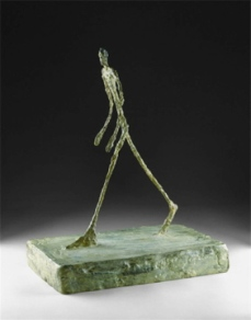 Alberto Giacometti; Man Crossing a Square on a Sunny Morning; 1950; cast bronze; 40.32 cm; The Detroit Institute of Art