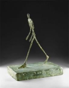 Alberto Giacometti; Man Crossing a Square on a Sunny Morning; 1950; cast bronze; 40.32 cm; The Detroit Institute of Art