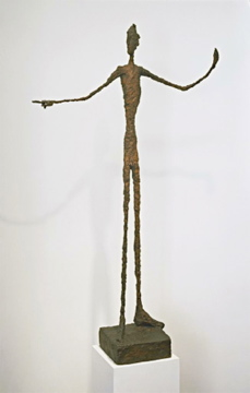 Alberto Giacometti; Man Pointing; 1947; bronze; 179 x 103.4 x 41.5 cm; The Museum of Modern Art