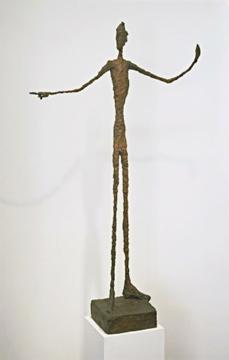 Alberto Giacometti; Man Pointing; 1947; bronze; 179 x 103.4 x 41.5 cm; The Museum of Modern Art