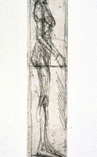 Alberto Giacometti; Nude in Profile; 1955; etching; 30.8 x 5.6 cm; Fine Arts Museum of San Francisco