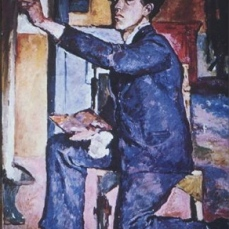 Alberto Giacometti; Self-Portrait; 1921; oil on canvas
