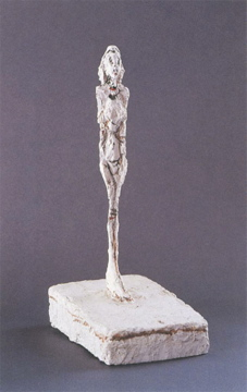 Alberto Giacometti; Standing Woman; 1953; plaster and paint; Menil Collection, Houston, Texas
