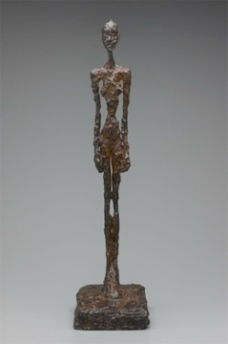 Alberto Giacometti; Femme debout (Standing Woman); 1956; bronze; 72 x 18 x 23 cm; Yale University Art Gallery, Modern and Contemporary Art