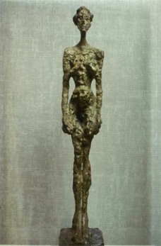 Alberto Giacometti; Standing Woman; 1953-5; painted bronze; Kunsthalle Basel