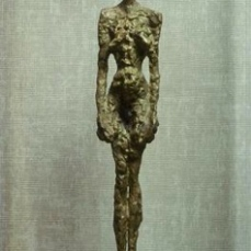 Alberto Giacometti; Standing Woman; 1953-5; painted bronze; Kunsthalle Basel