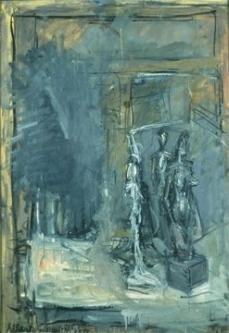 Alberto Giacometti; Studio; 1953; oil on canvas