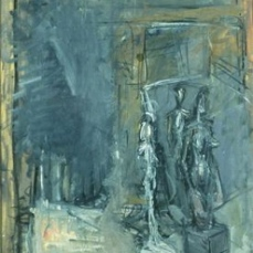 Alberto Giacometti; Studio; 1953; oil on canvas