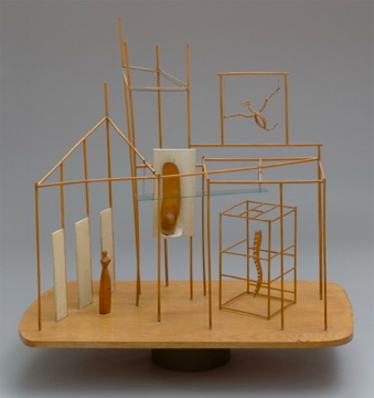 Alberto Giacometti; The Palace at 4 AM; 1932; wood, glass, wire, and string; 63.5 x 71.8 x 40 cm; The Museum of Modern Art