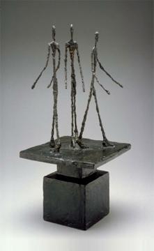 Alberto Giacometti; Three Men Walking; 1948-49; Bronze; 75.57 x 31.75 x 33.35 cm; Dallas Museum of Art