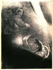 Il tombe dans l'abîme, la tête en bas, Pl. 17 from La Tentation de Saint-Antoine.