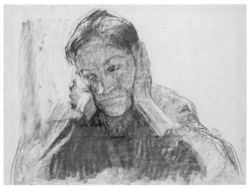 Kollwitz_WorkingClassWomanHoldingHead_1904
