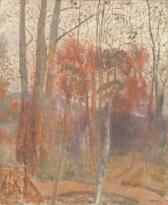 Redon_TreesInBievres_1900