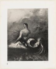 The Siren, clothed in barbs, emerged from the waves Plate No. 4 from the set The Origins